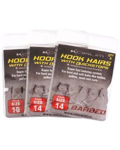 Korum Hook Hairs, mit Quickstops